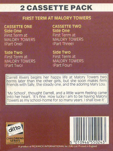 First Term At Malory Towers Dto 10502 By Enid Blyton