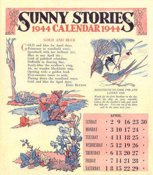 Calendar Mysteries May Magic : Sunny stories calendar by enid blyton