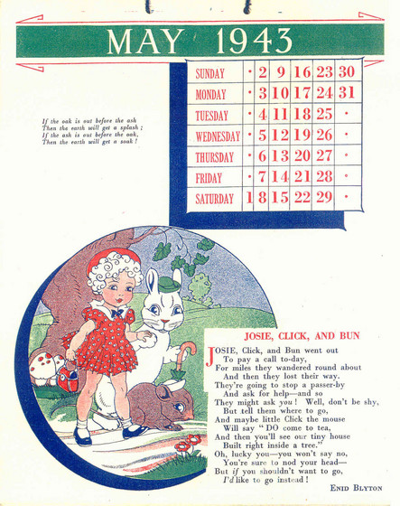 May Calendar Book : Enid blyton s calendar by