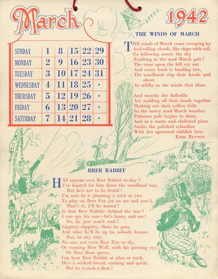 Calendar Mysteries April Adventure Quiz : Sunny stories calendar for by enid blyton