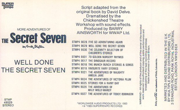 Well Done the Secret Seven (STMP 49029) by Enid Blyton